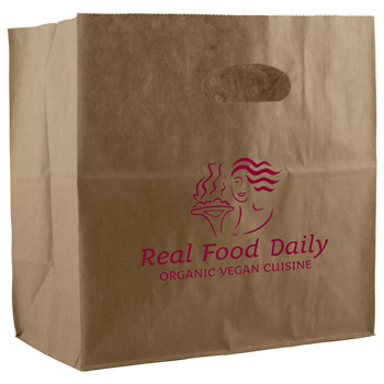 Kraft Die Cut Handle Bags