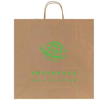 100% Recycled Natural Kraft Shopping Bags