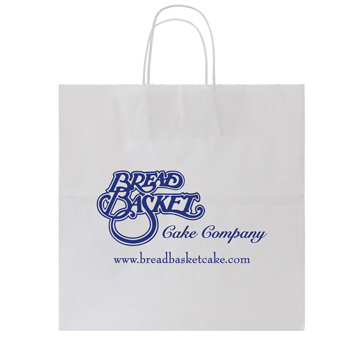 40% Recycled White Kraft Shopping Bags